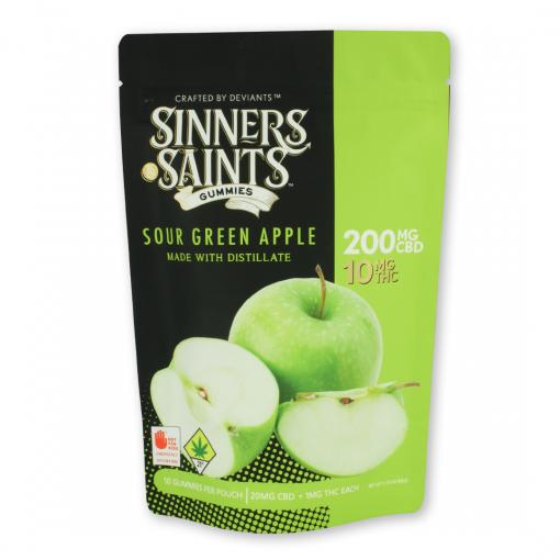 20-1 Sour Green Apple Gummy Square