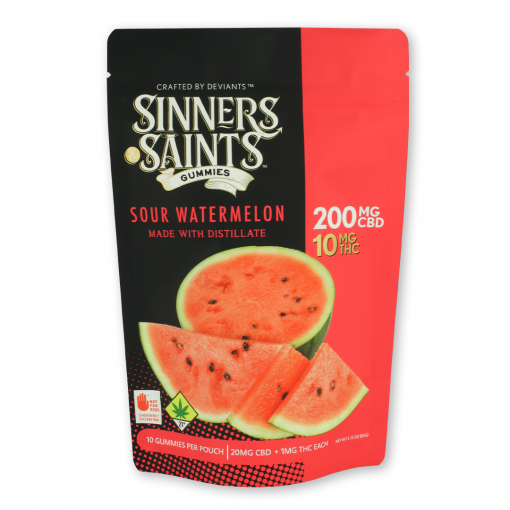 20-1 Sour Watermelon Gummy Square
